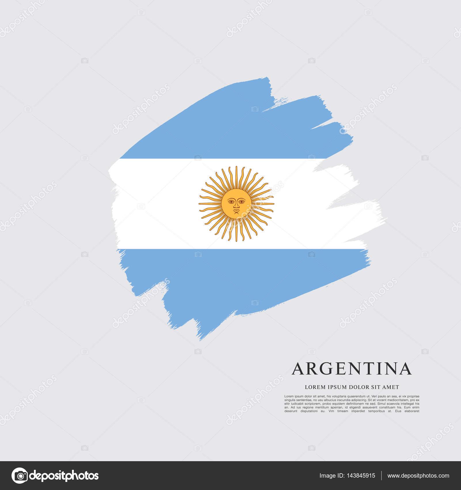 Bandeira Da Modelo Argentina Vetor De Stock Igorvkv