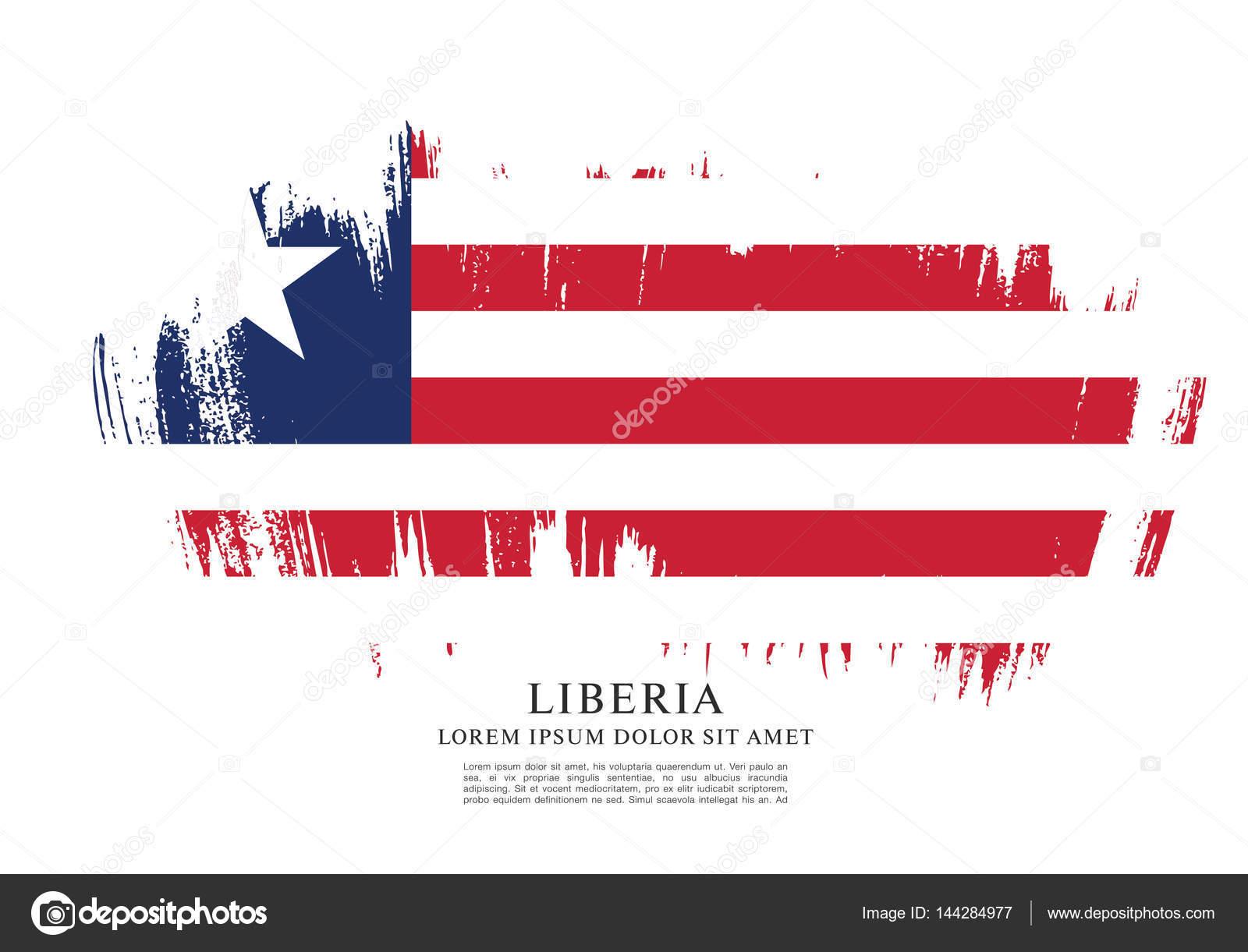 diseño de liberia plantilla de bandera — Archivo Imágenes ...