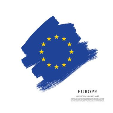 Flag of Europe background