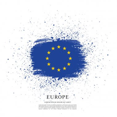 Flag of Europe background