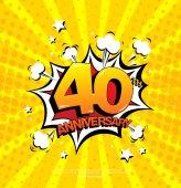 Fotografie 40th anniversary znak