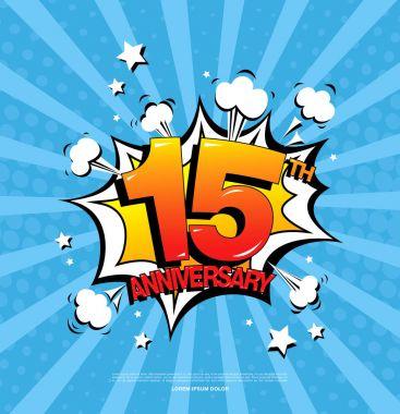 15th anniversary emblem