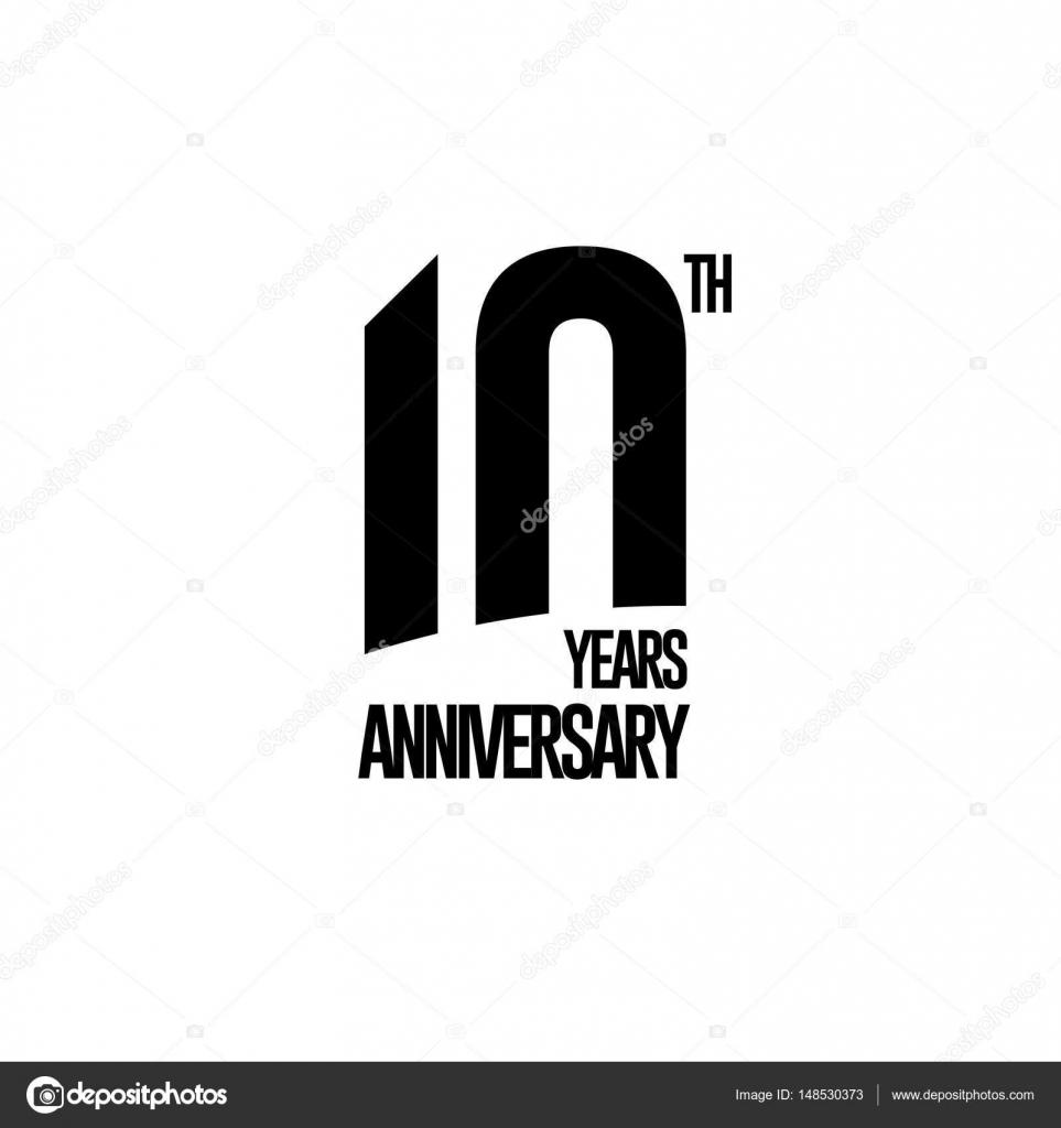 Ten Years Anniversary Celebration Symbol Stock Vector Igorvkv