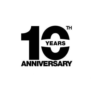 ten years anniversary celebration symbol