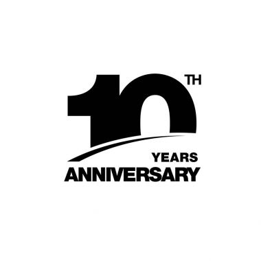 ten years anniversary celebration symbol