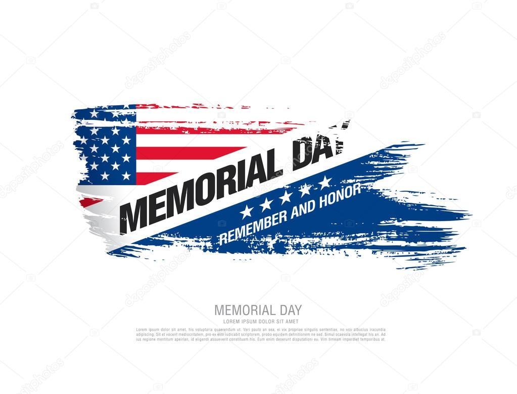 Memorial day banner