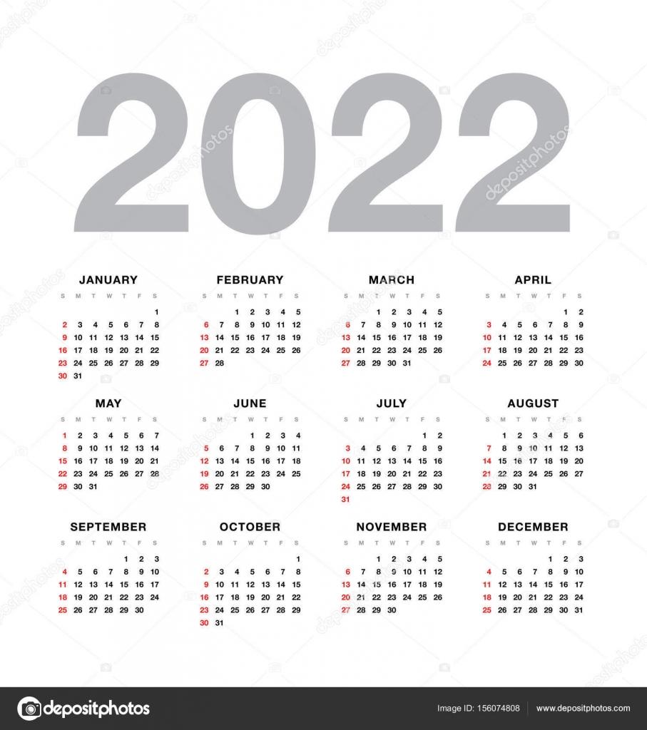 Wall Calendar 2022.Wall Calendar 2022 Year Design Vector Image By C Igor Vkv Vector Stock 156074808