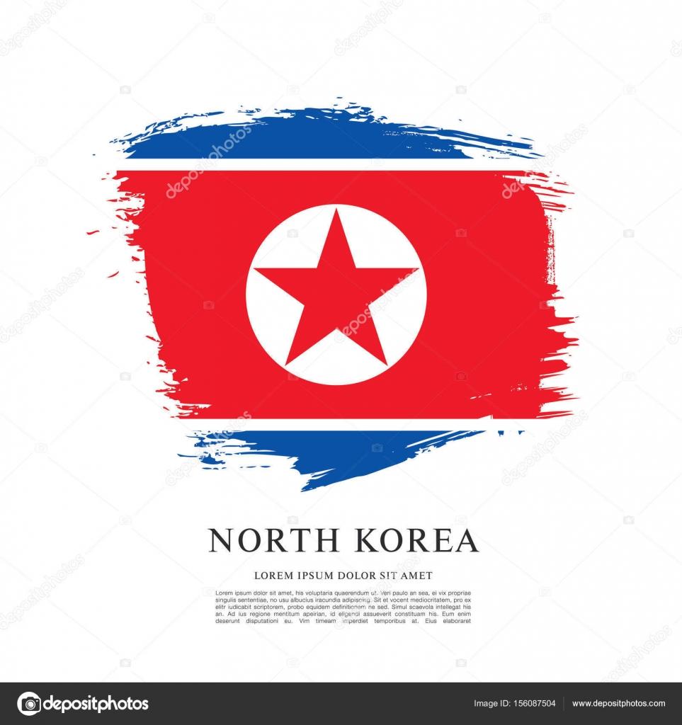 Diseo De La Bandera Corea Del Norte Vector Stock Igor Vkv Ner V Ori