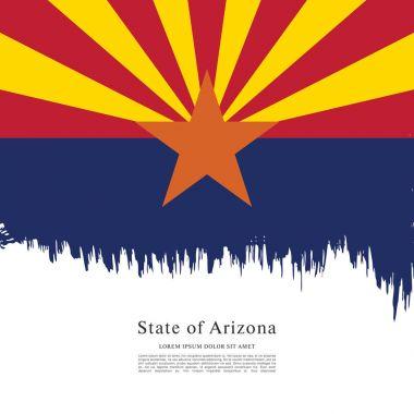 Flag of Arizona. United States of America