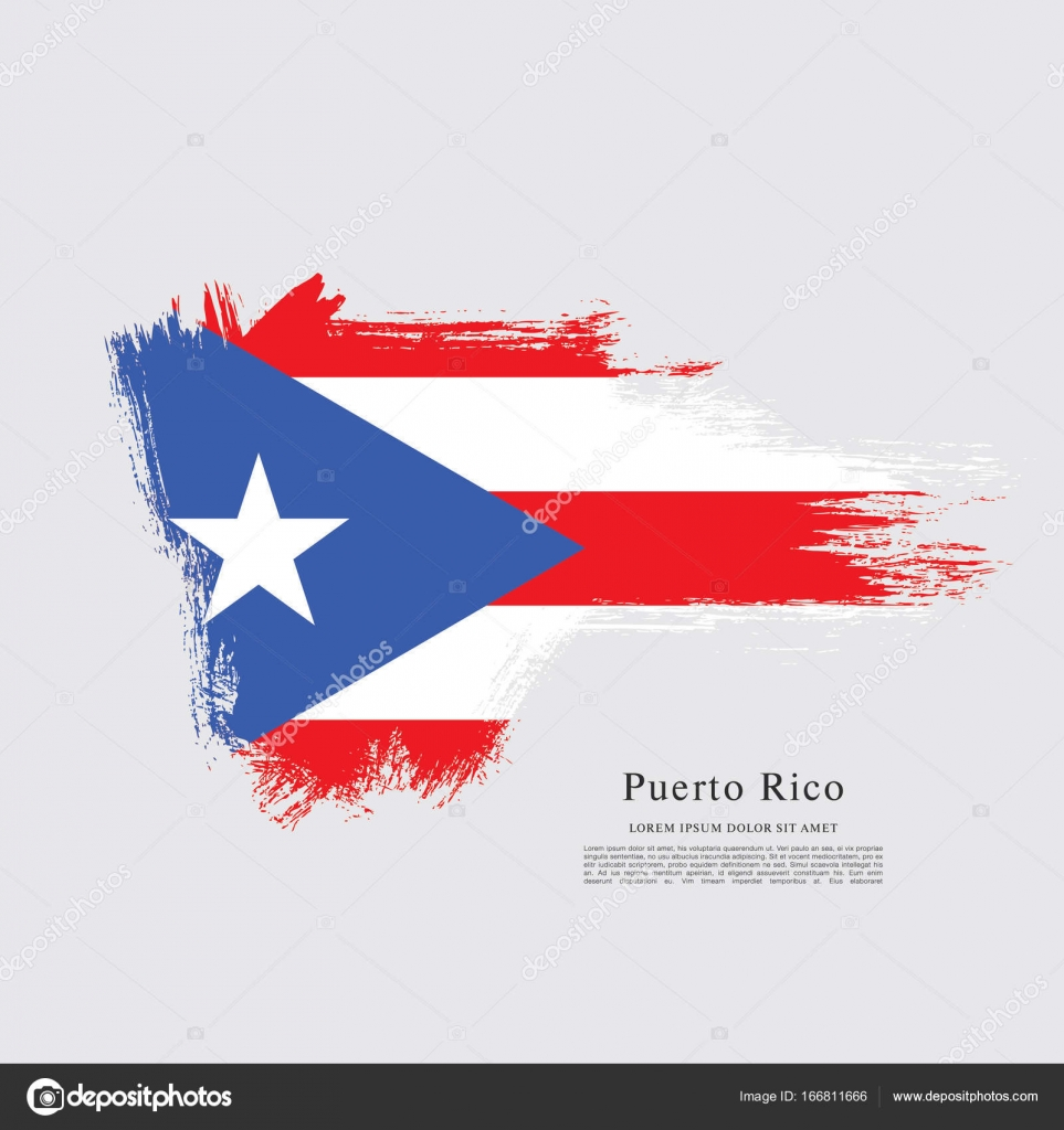 Flag Of Puerto Rico Stock Vector