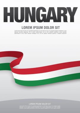 Flag of Hungary card layout design