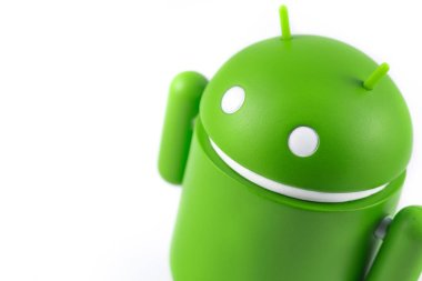 Android figure on the white background