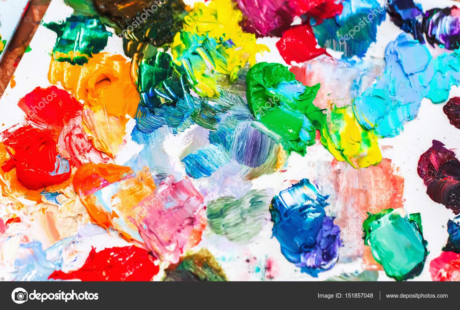 Imágenes Para Pintar Con Oleos Pinturas Al óleo En La Paleta Del