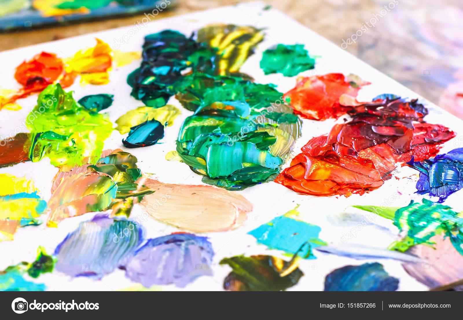 Fotos Para Pintar Cuadros Pinturas Al óleo En La Paleta Del