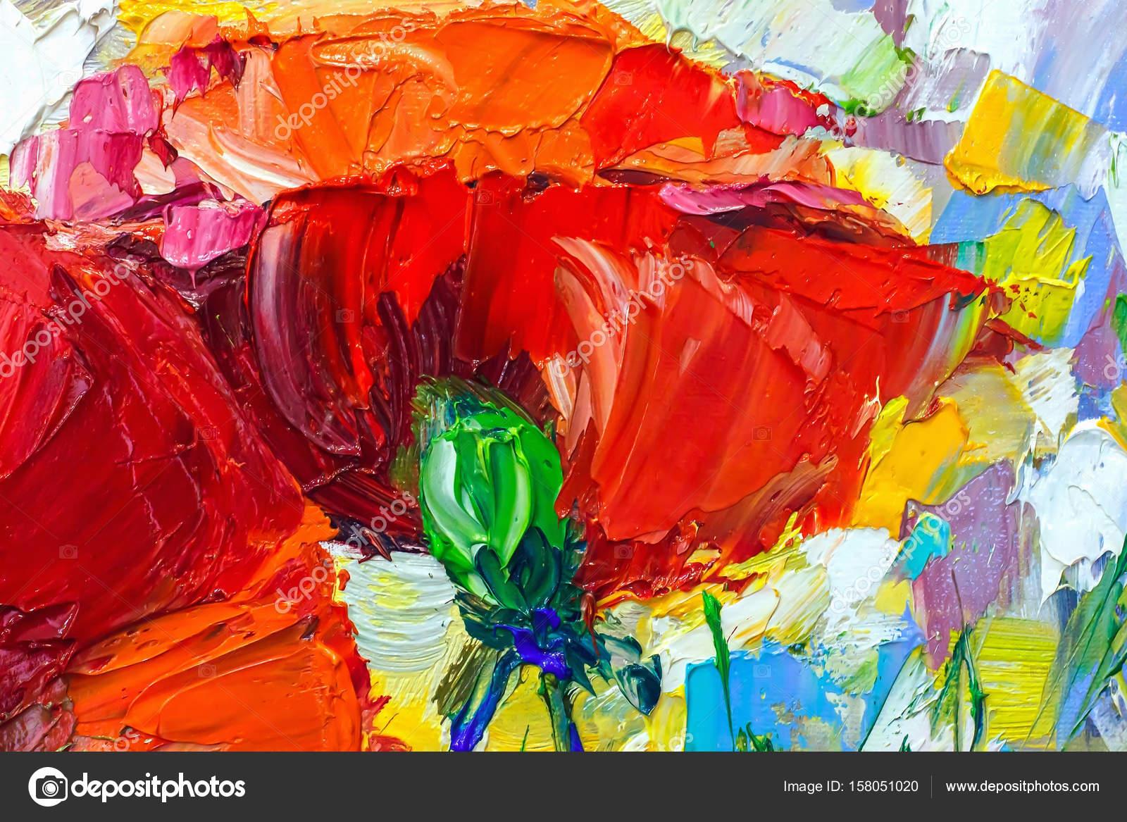Obraz Olejny Impresjonizm Styl Malowanie Tekstury Stil Kwiat