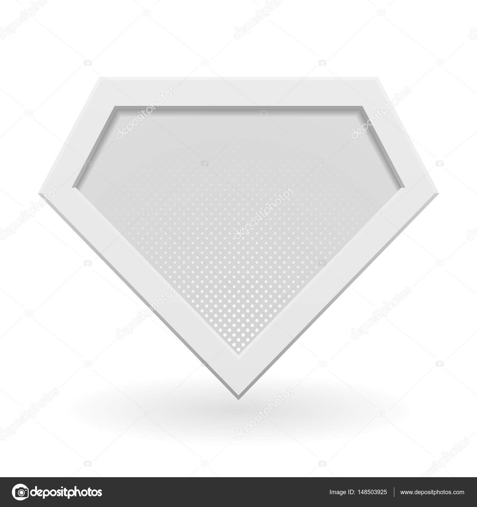 Weiße Superheld Logo Vorlage — Stockvektor © gn8 #148503925