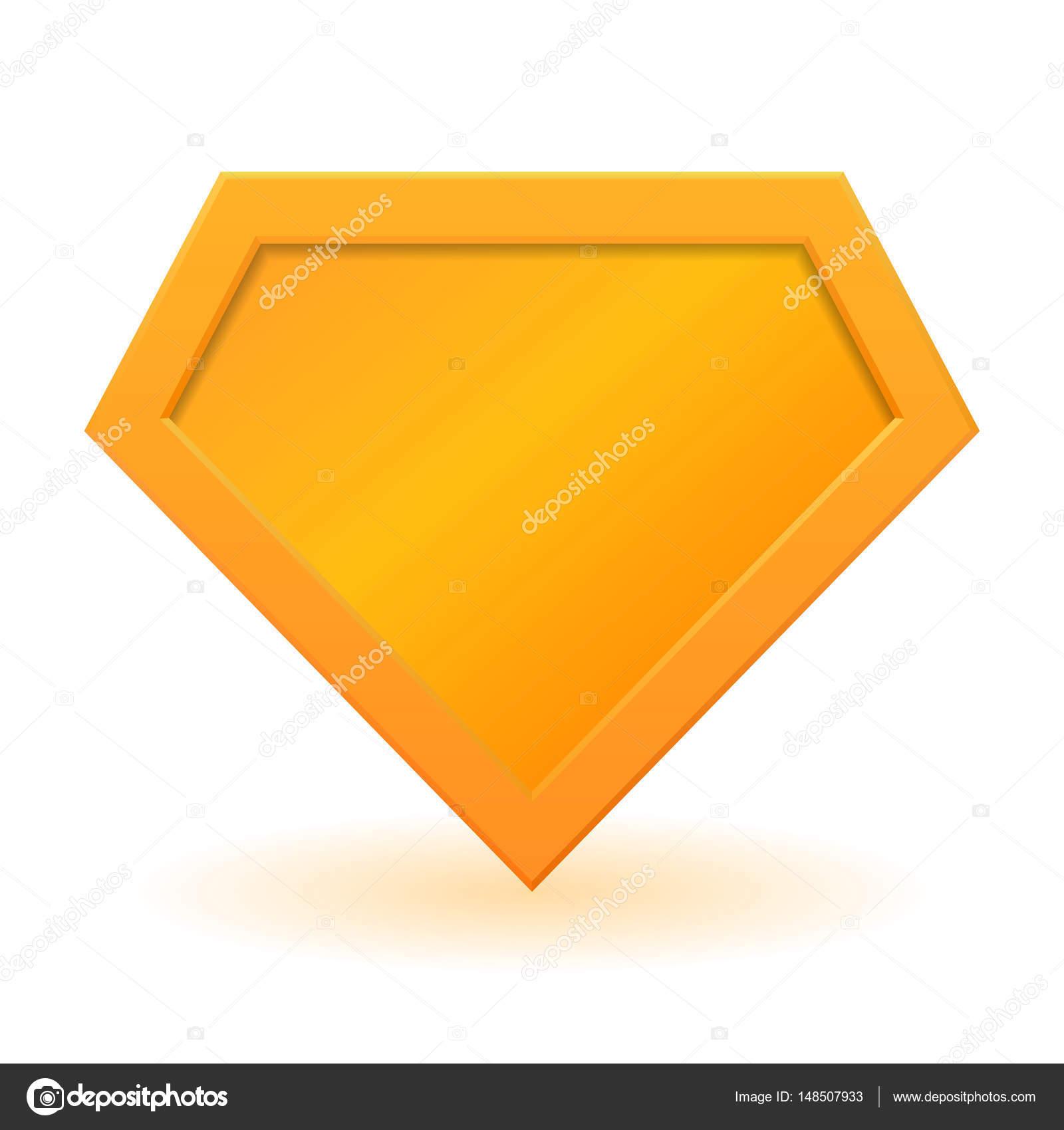 Goldene Superheld Logo Vorlage — Stockvektor © gn8 #148507933