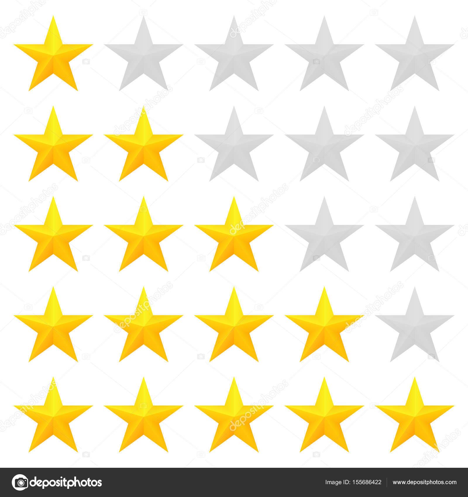 Golden Stars Rating Stock Vector C Gn8 155686422