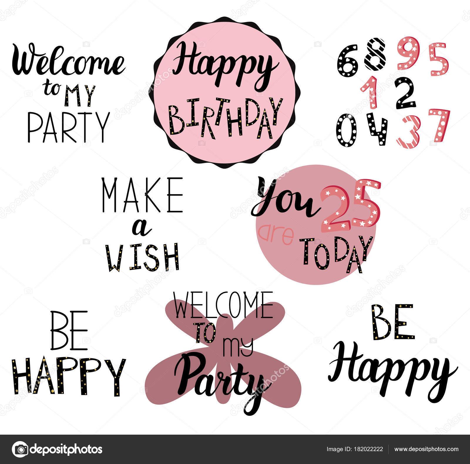Gelukkige Verjaardag Groeten Uitnodiging Tekst Voor Kaarten Folders