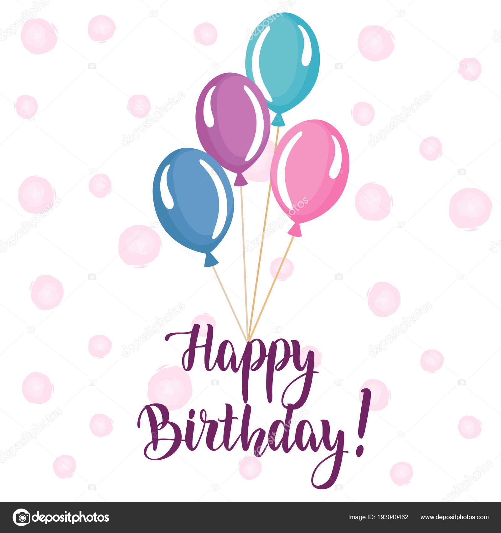 Happy Birthday Banner Greeting Card Flags Birthday Lettering Text ...