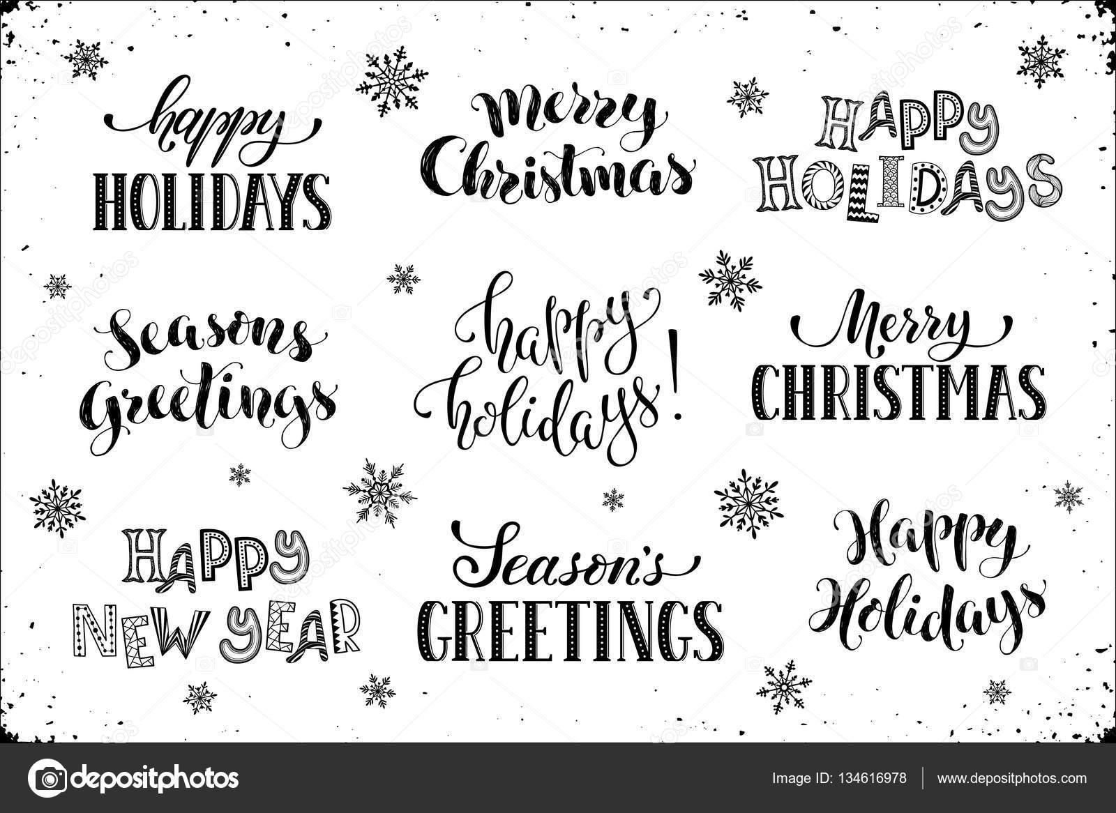 happy holidays phrases — Stock Vector © ollymolly #134616978