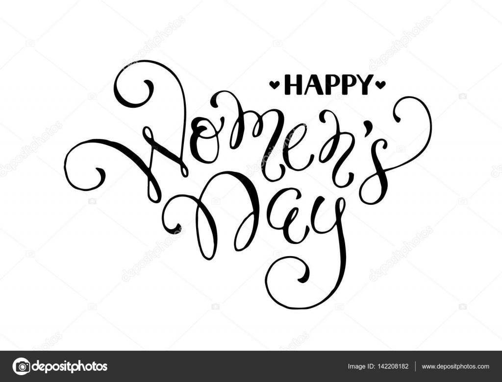 Frase Do Dia Das Mulheres Vetores De Stock Ollymolly