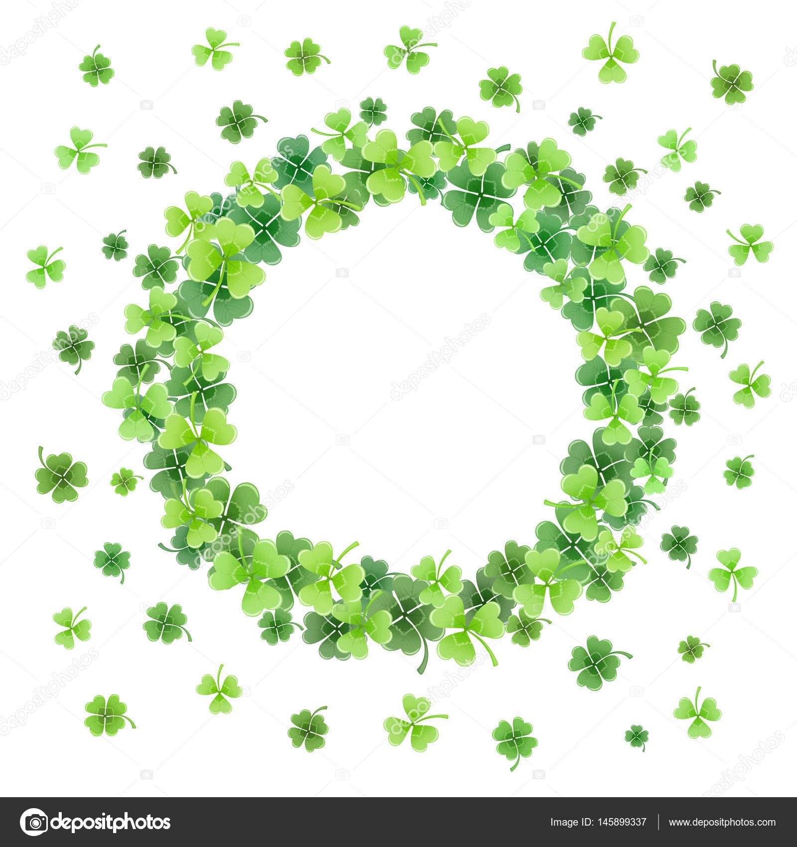 marco de hojas de trébol — Vector de stock © ollymolly #145899337