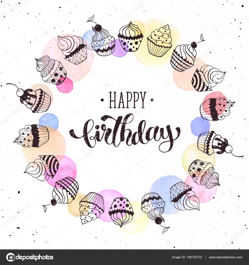 Alles Gute zum Geburtstagskarte — Stockvektor © ollymolly #148120733
