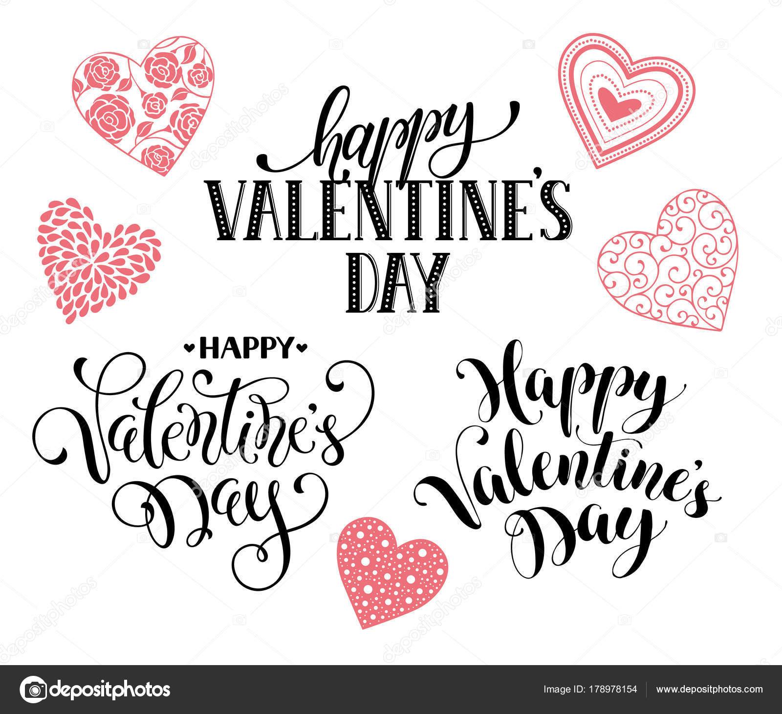 Frases De Dia Dos Namorados Felizes Vetores De Stock Ollymolly