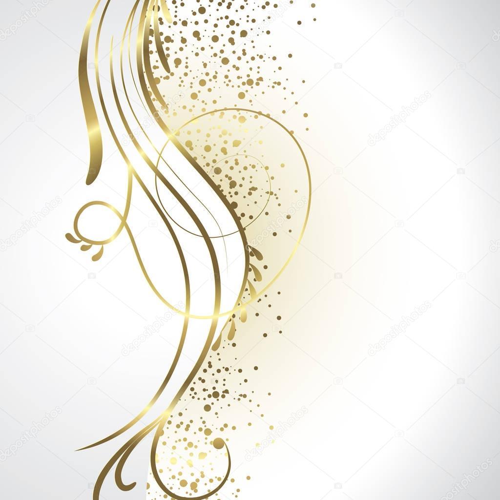 Sfondo Bianco E Oro Vettoriali Stock Orkidia 129361916