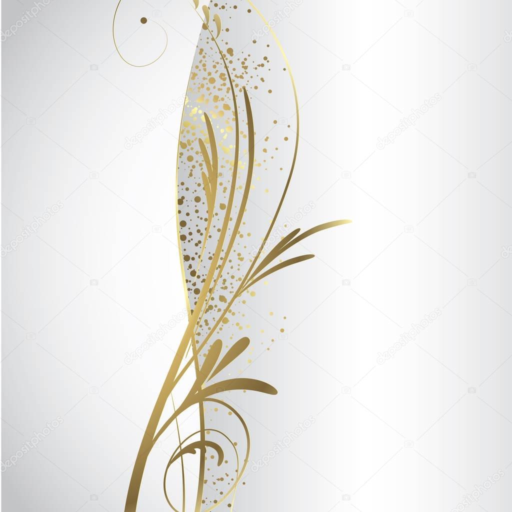 Sfondo Bianco E Oro Vettoriali Stock Orkidia 129362046