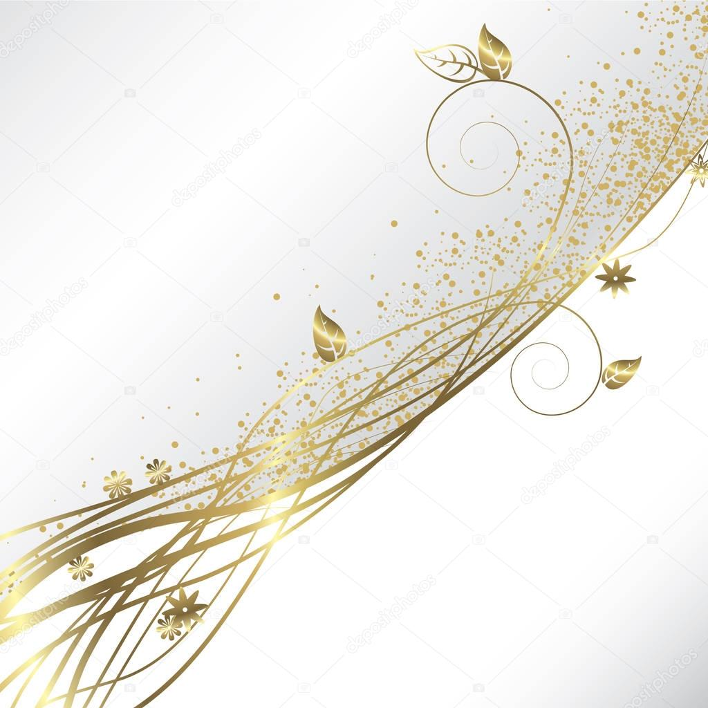 Sfondo Bianco E Oro Vettoriali Stock Orkidia 129362276
