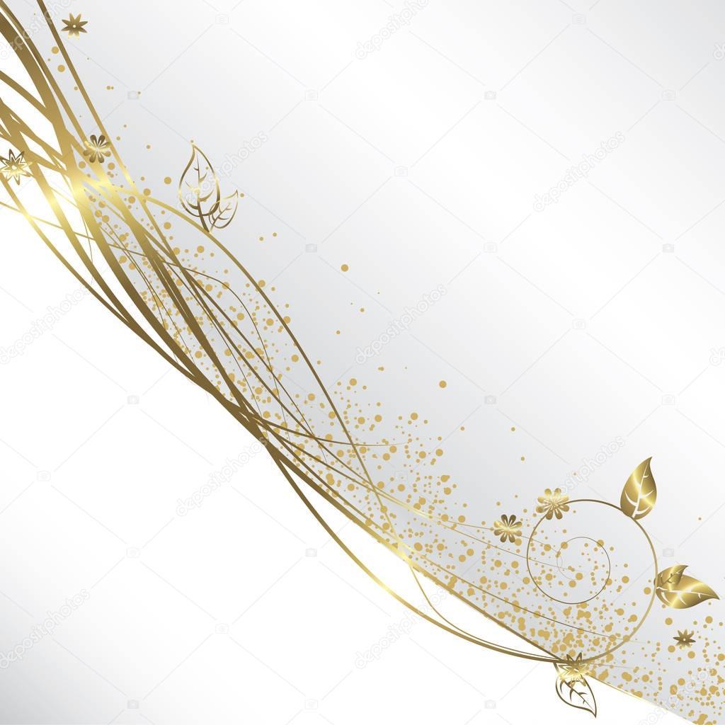 Sfondo Bianco E Oro Vettoriali Stock Orkidia 129362296