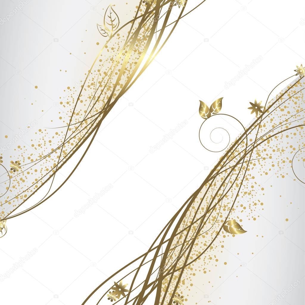 Immagini Bianco E Dorato Sfondo Bianco E Oro Vettoriali Stock