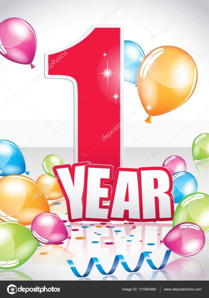 přání k narozeninám 1 rok 1 rok přání k narozeninám — Stock Vektor © Orkidia #131894480 přání k narozeninám 1 rok