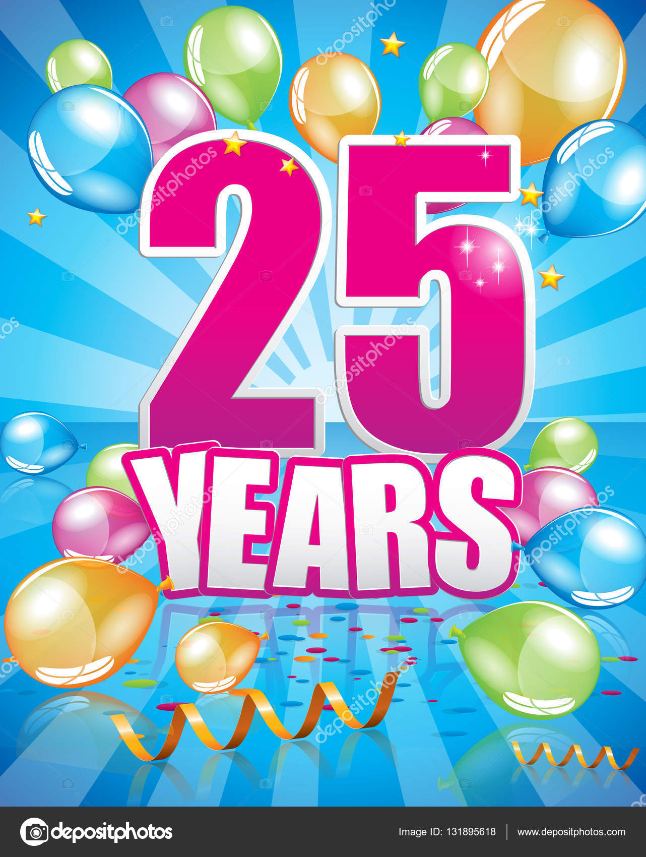 přání k narozeninám 25 let 25 let k narozeninám — Stock Vektor © Orkidia #131895618 přání k narozeninám 25 let