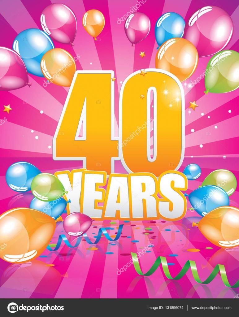födelsedagskort 40 40 år födelsedagskort — Stock Vektor © Orkidia #131896074 födelsedagskort 40