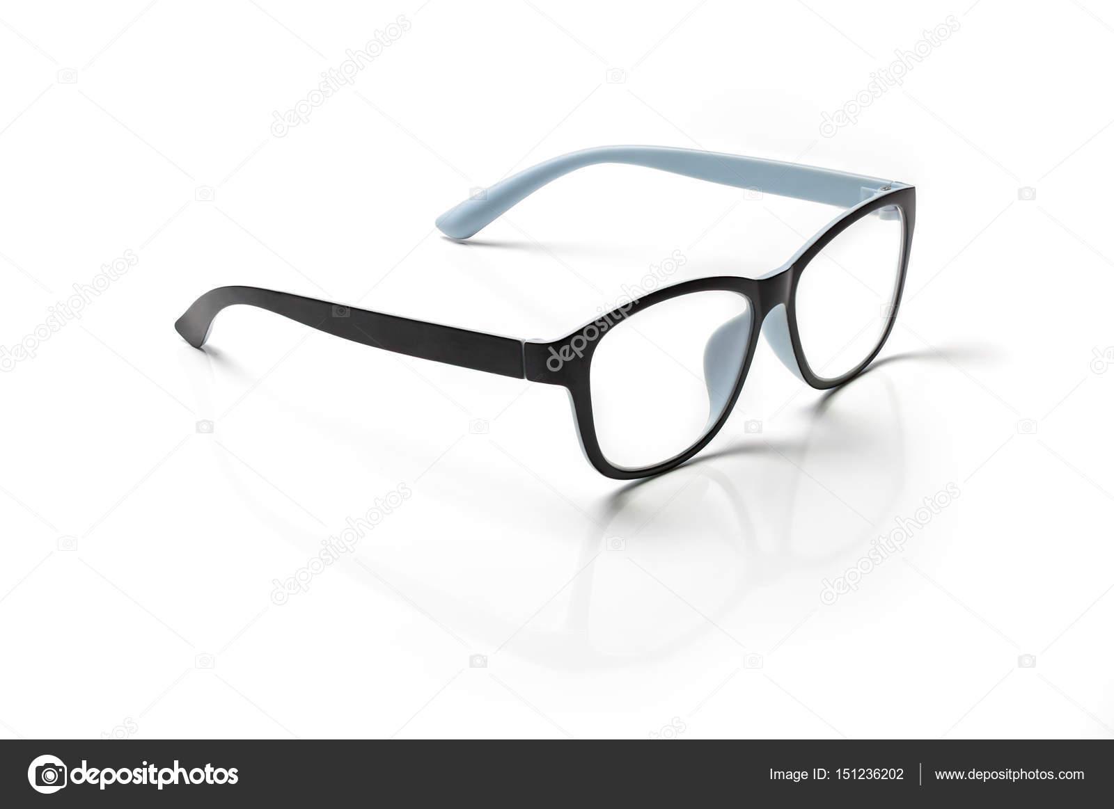 bbcebf64ee Υπολογιστή γυαλιά closeup απομονώνονται σε λευκό φόντο — Φωτογραφία Αρχείου