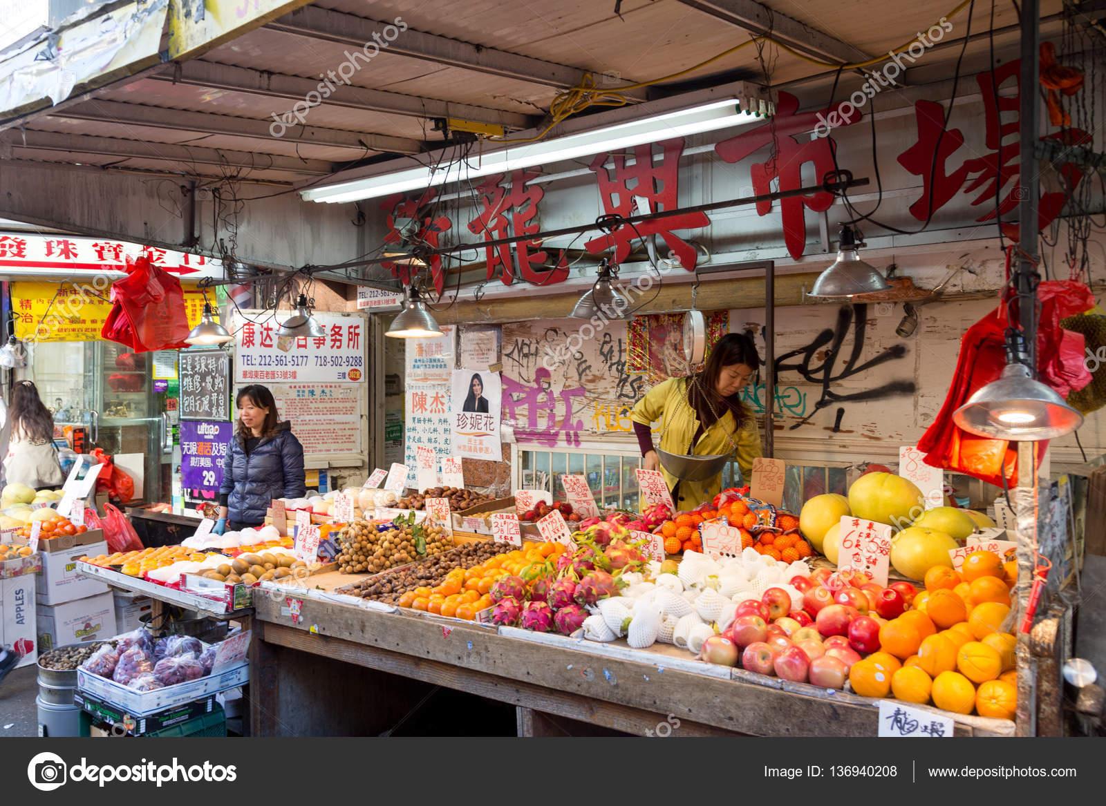 Chinatown Market In New York City Stock Editorial Photo C Olli0815 136940208