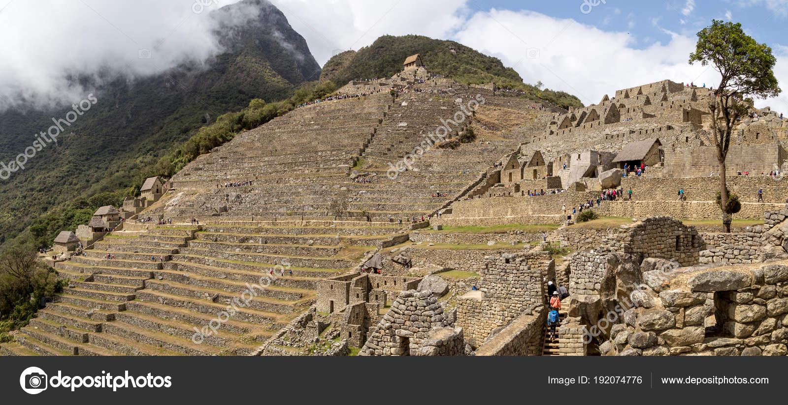 Ruinas Incas De Machu Picchu Foto Editorial De Stock