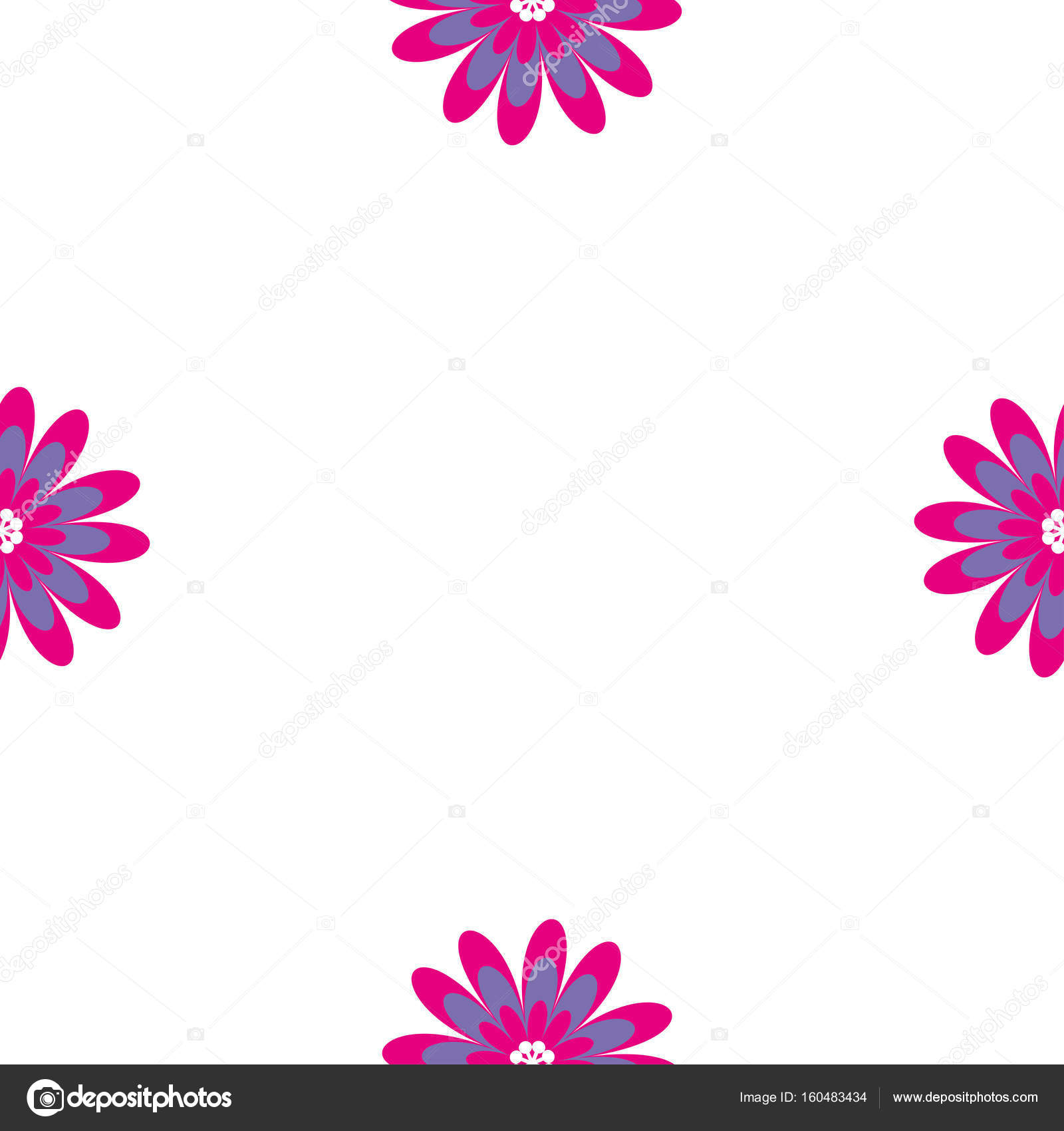 floral seamless pattern vector illustration with abstract flowers repeating background for printing on fabric - Pictures For Printing