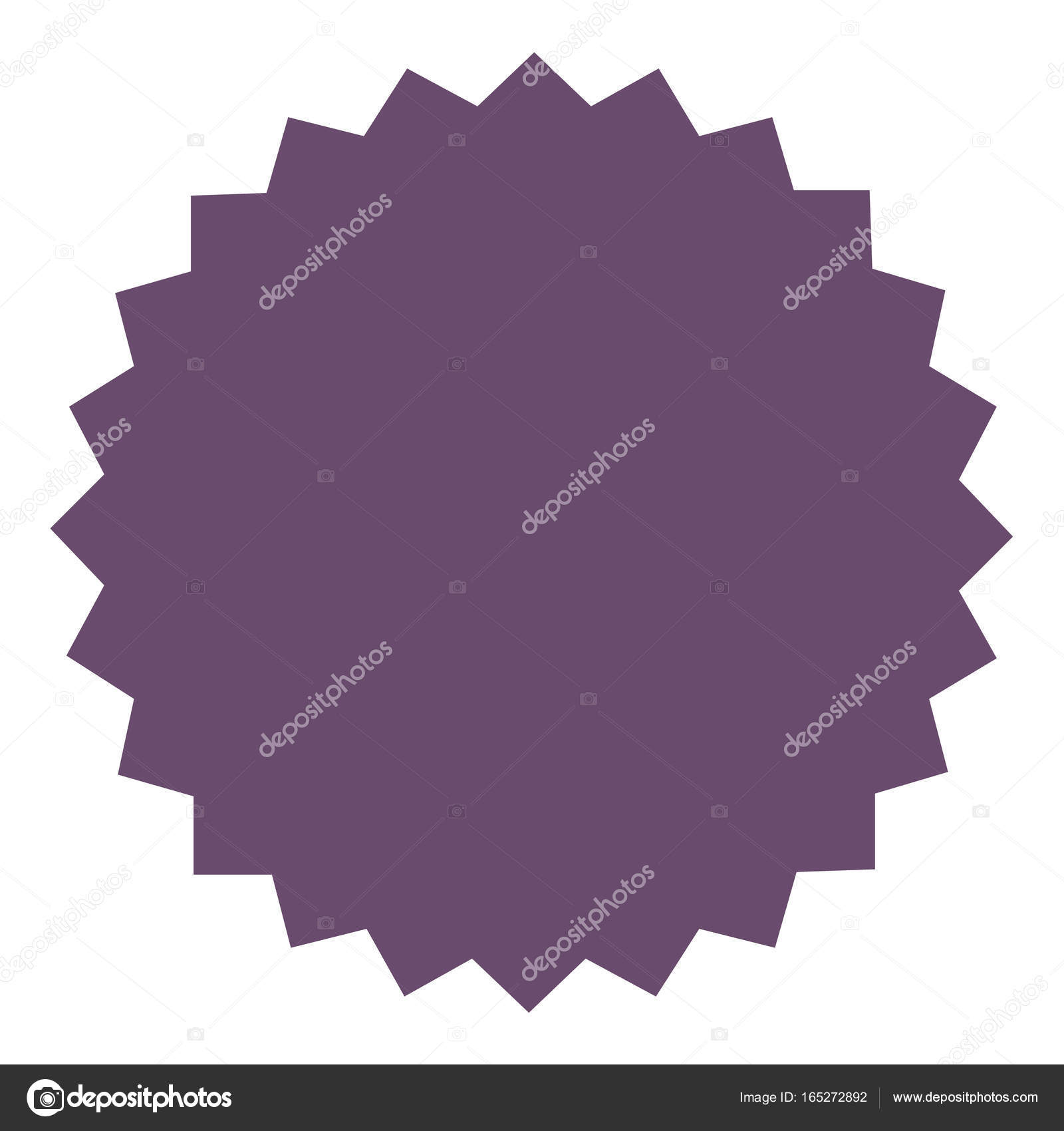 icon of starburst sunburst badge label sticker purple lilac