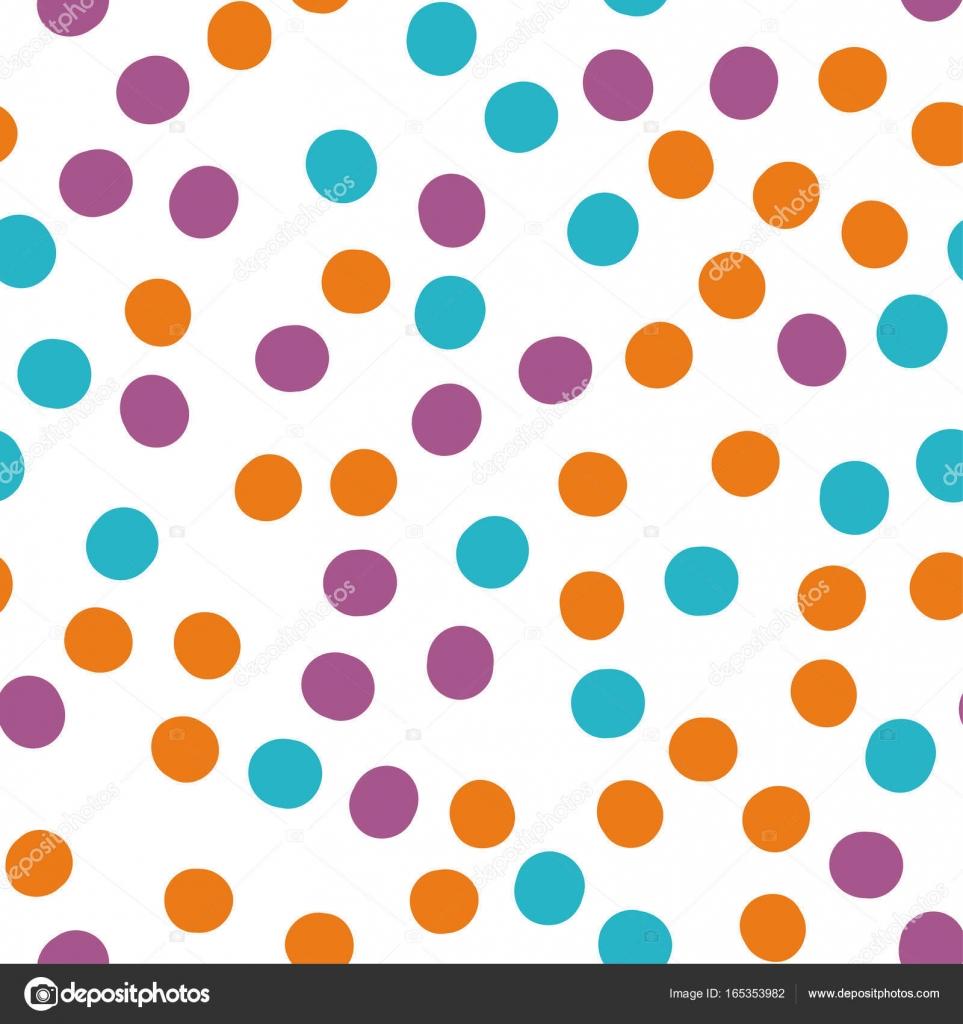 Nahtlose Muster mit Kreisen, Punkte, Punkte, Flecken. Mode-Trend ...