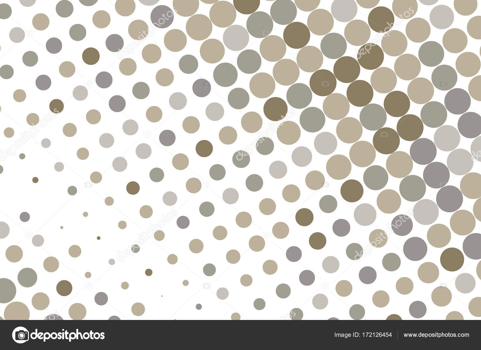 Dotted backdrop with circles, dots, point large scale  Gray