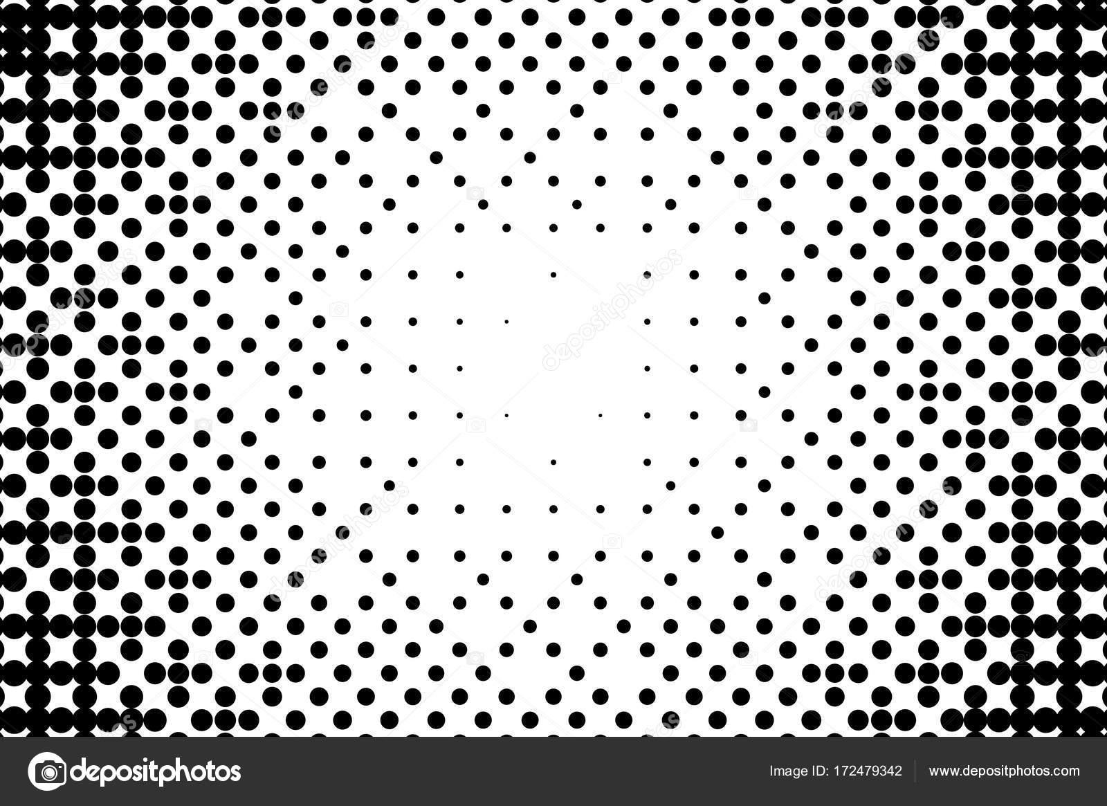 Abstrakte monochrome Halbton Muster. Gepunktete Kulisse mit Kreisen ...