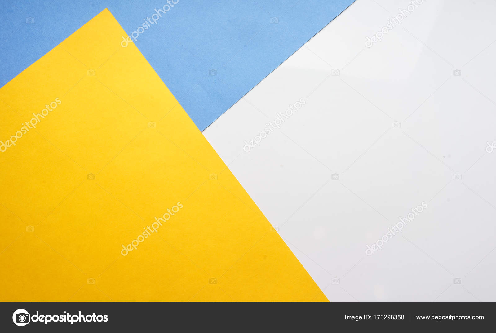 The composition of the colored sheets of paper. Geometric background ...