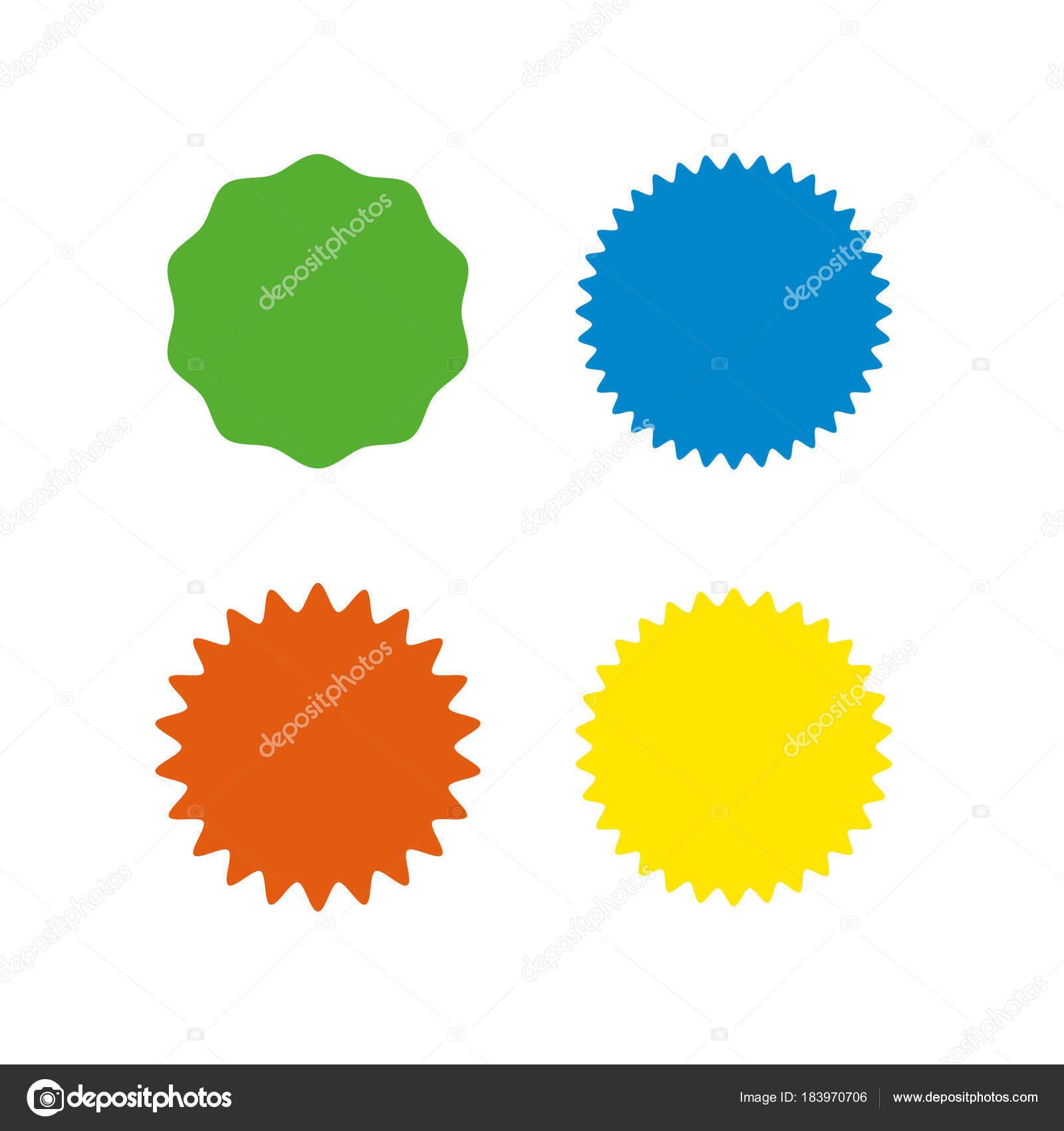 set of vector starburst sunburst badges different color simple rh depositphotos com free vector starburst shape free starburst vector graphics