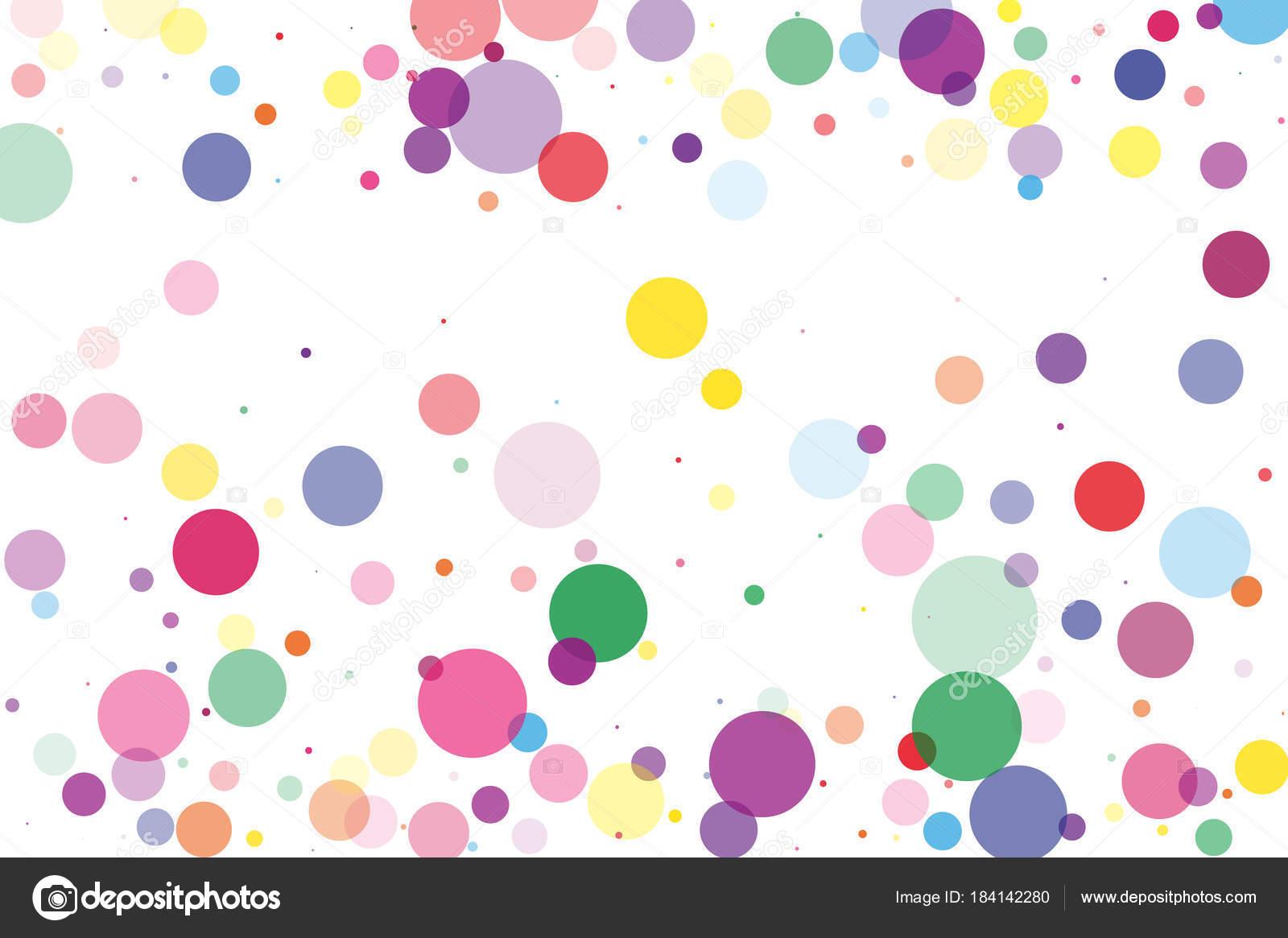 Bright Polka Dot Background