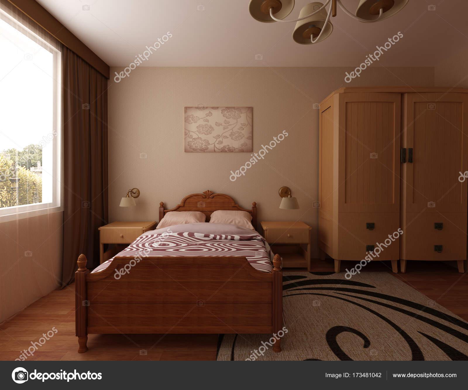 Gemutliche Schlafzimmer Interieur Stockfoto C Lisunova 173481042
