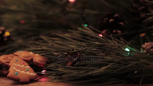 Blikající světla na vánoční stromek a soubory cookie